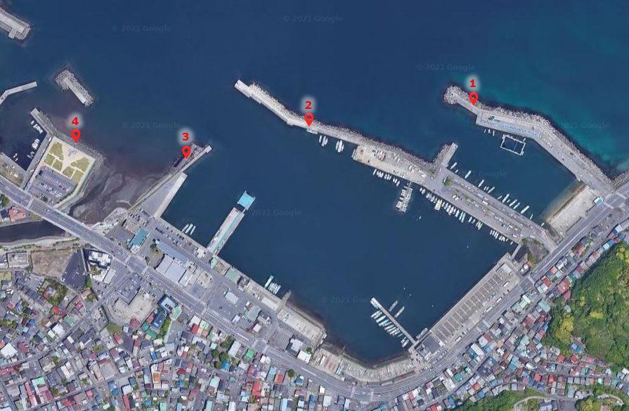 伊東港-釣り場の全体像