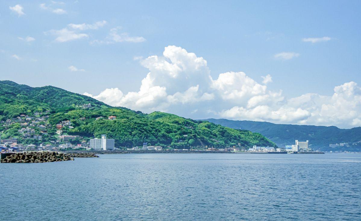 伊東市の海の景色