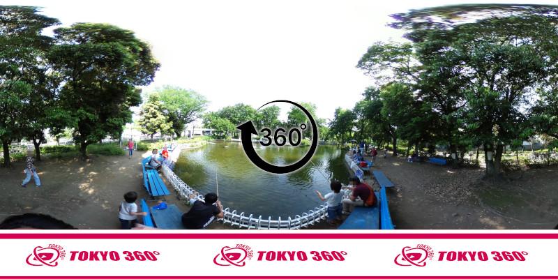 郷土の森公園-釣り池-360度写真
